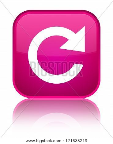 Reply Rotate Icon Shiny Pink Square Button