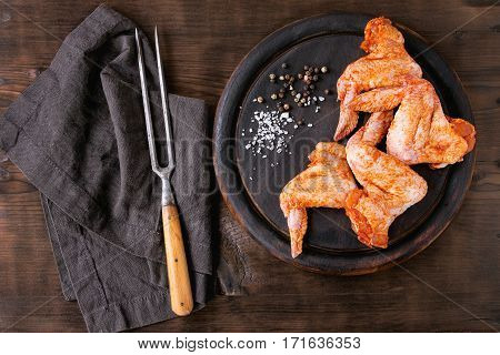 Raw Marinated Chicken For Bbq