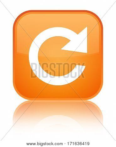 Reply Rotate Icon Shiny Orange Square Button