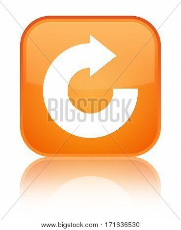 Reply Arrow Icon Shiny Orange Square Button
