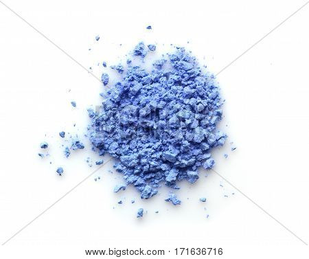 Blue Powder Eyeshadow For Makeup As Sample Of Cosmetic Product