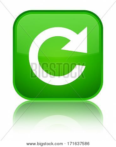 Reply Rotate Icon Shiny Green Square Button