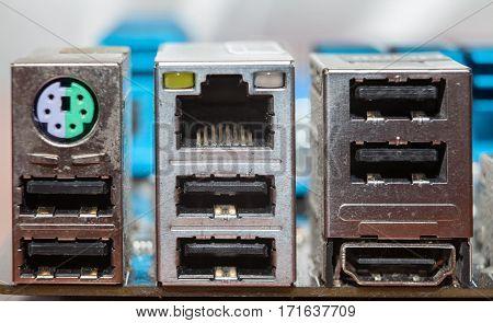 Motherboard, Usb, Lan, Input, Audio Input, Socket,