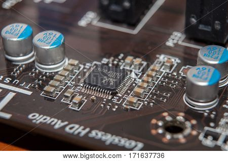 Motherboard Repair, Chip, Closeup, Dust, Service