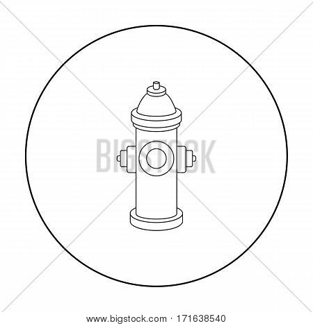Hydrant vector illustration icon in outline design