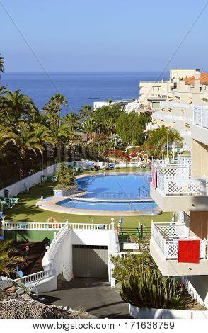 Callao Salvaje Tenerife Canary Islands Spain Europe - June 12 2016 : Blue Sea Callao Garden hotel in Tenerife