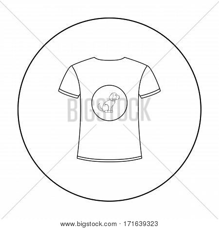 Shirt I love dogs vector illustration icon in outline design