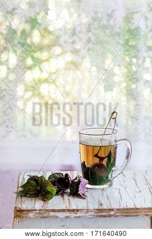 Hot Violet Basil Tea