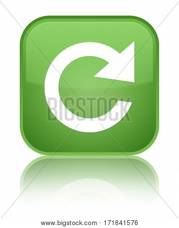 Reply Rotate Icon Shiny Soft Green Square Button