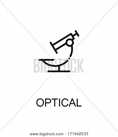 Optical icon. Optical single high quality outline symbol for web design or mobile app. Thin line sign for design logo. Black outline pictogram on white background