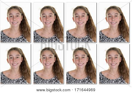 girl Identity photos required to obtain a passport