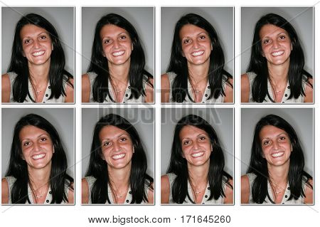 woman Identity photos required to obtain a passport