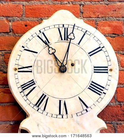 Clock Shows Eleven O'clock