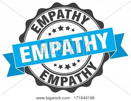 empathy. stamp. sign. seal. round. retro. ribbon