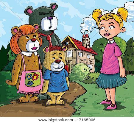 Cartoon Of Goldilockes