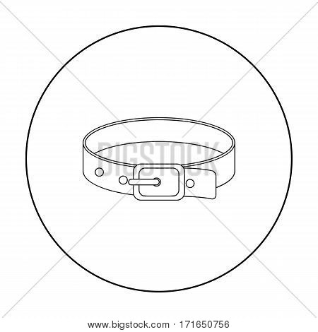 Pet collar icon of vector illustration for web and mobile design