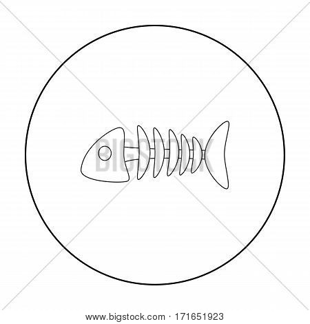 Fish bone icon of vector illustration for web and mobile design