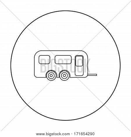 Caravan icon of vector illustration for web and mobile design