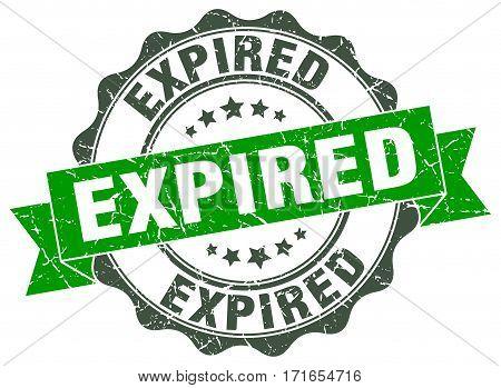 expired. stamp. sign. seal. round. retro. ribbon