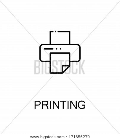 Printing icon. Single high quality outline symbol for web design or mobile app. Thin line sign for design logo. Black outline pictogram on white background
