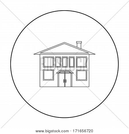 House icon outline. Single building icon from the big city infrastructure outline.