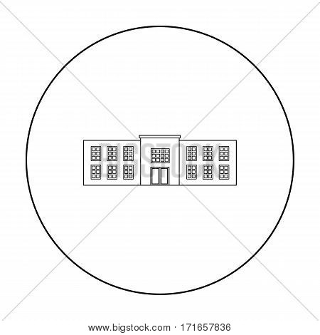 Police station icon outline. Single building icon from the big city infrastructure outline.