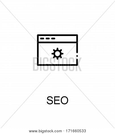 Seo icon. Single high quality outline symbol for web design or mobile app. Thin line sign for design logo. Black outline pictogram on white background