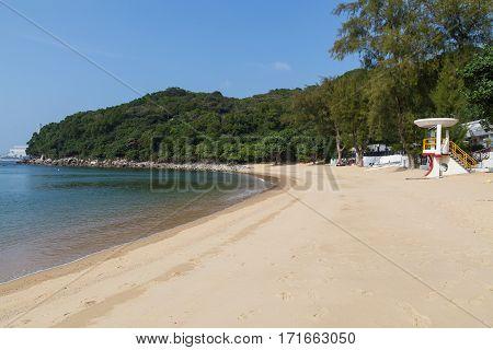 Panoramic View Of Lo So Shing Beach Lamma Island