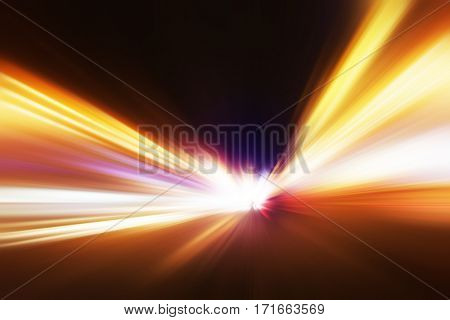 Abstract blurred speed motion.