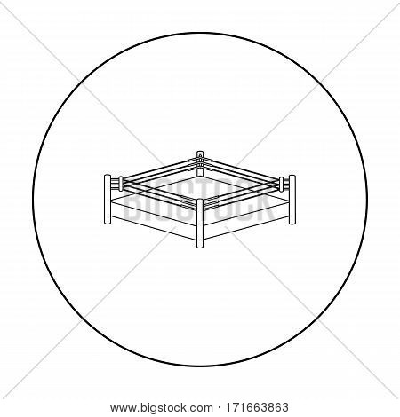 Boxing ring icon vector photo free trial bigstock boxing ring icon in outline style isolated on white background boxing symbol vector illustration ccuart Images