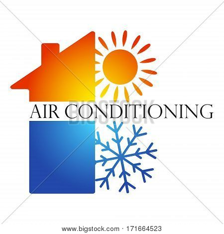 Air conditioning design for business vector home