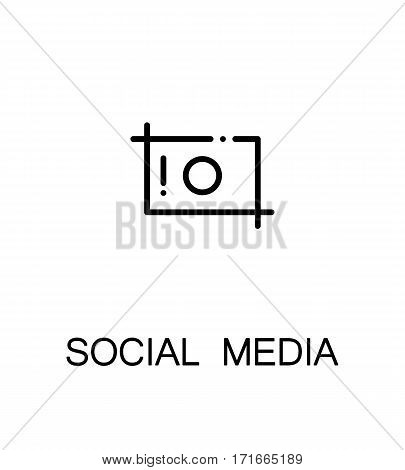 Social media icon. Single high quality outline symbol for web design or mobile app. Thin line sign for design logo. Black outline pictogram on white background