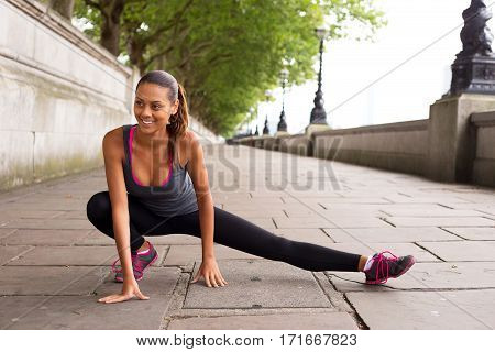 a girl enjoying a day of exercise