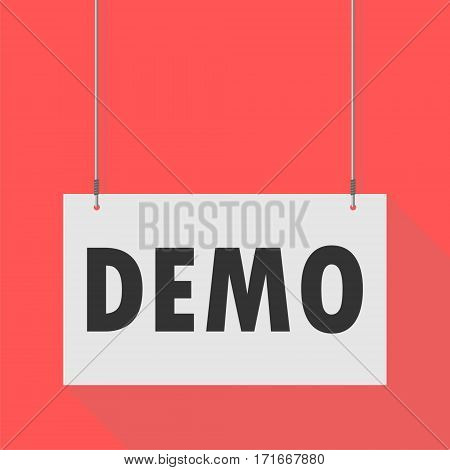 Simple Hanging Sign demo on red background