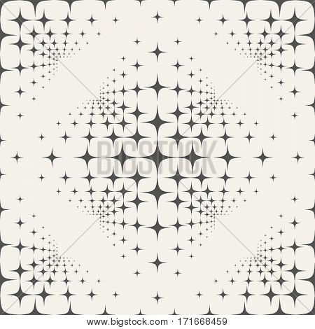 Seamless Pattern And Stars On A Beige Background.