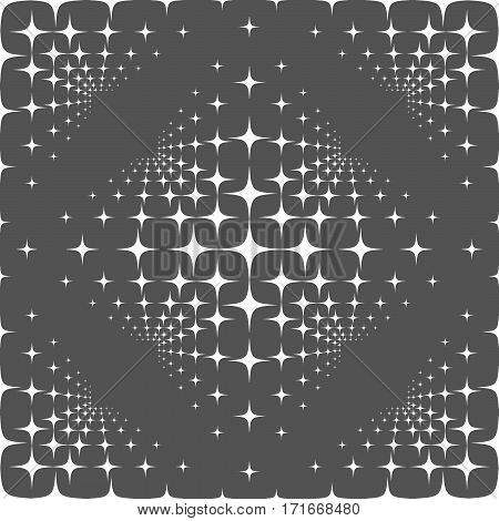 Seamless Pattern With Stars On Gray Background.
