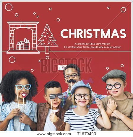 Christmas Celebration Enjoyment Graphic Concept