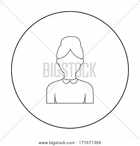 Grandmother icon outline. Single avatar, peaople icon from the big avatar outline.