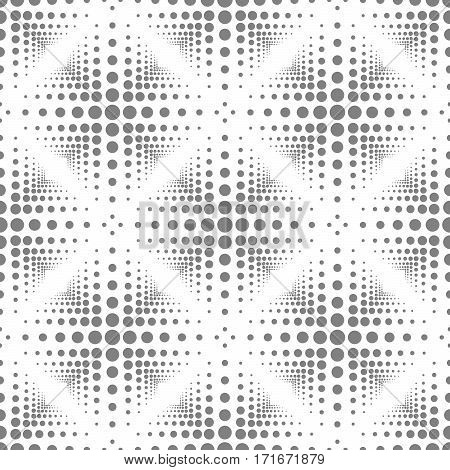 Abstract seamless pattern with circles and squares.