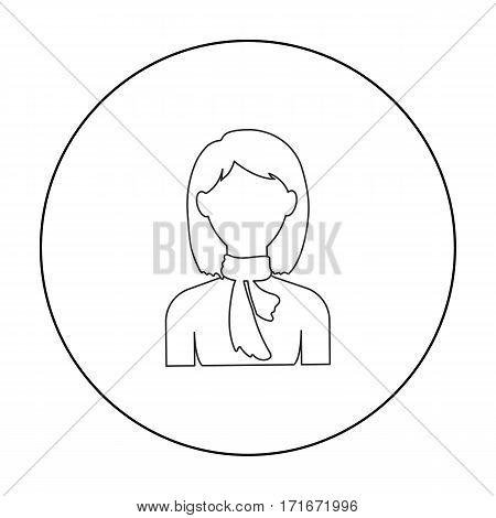 Woman icon outline. Single avatar, peaople icon from the big avatar outline.