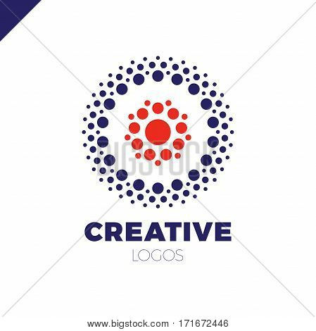 Clever And Creative, Dots Or Point Letter O Logo. Smart And Idea Logotype