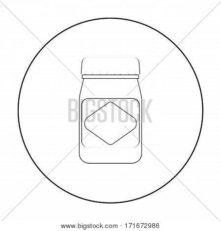 Australian food spread icon in outline design isolated on white background. Australia symbol stock vector illustration.