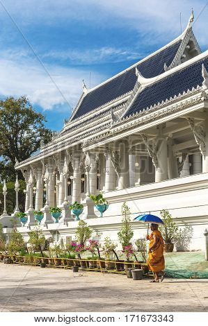Krabi Town, Thailand: Wat Kaew Temple In The Morning.