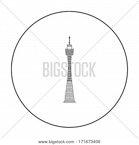 Sydney Tower icon in outline design isolated on white background. Australia symbol stock vector illustration.