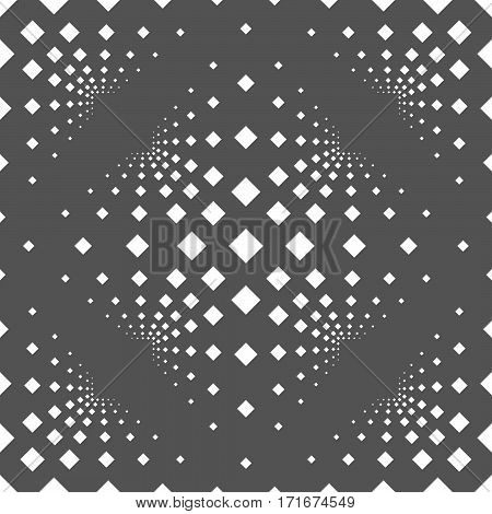 Seamless Background With Squares On A Gray Background.