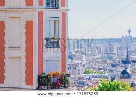 Beautiful Parisian streets view in Paris, France