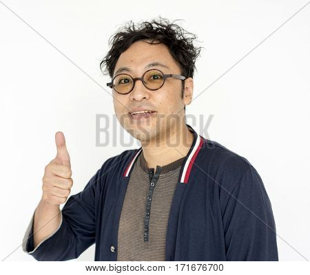 Man Thump up Gesture Sign Agreement