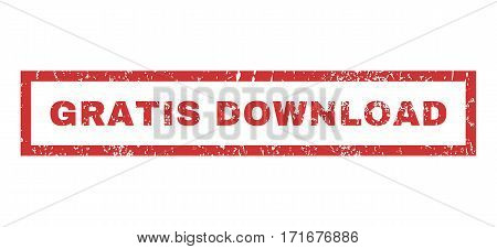 Gratis Download text rubber seal stamp watermark. Tag inside rectangular shape with grunge design and unclean texture. Horizontal vector red ink sticker on a white background.