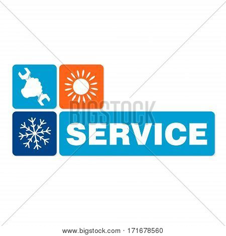 Air conditioning service design for business vector