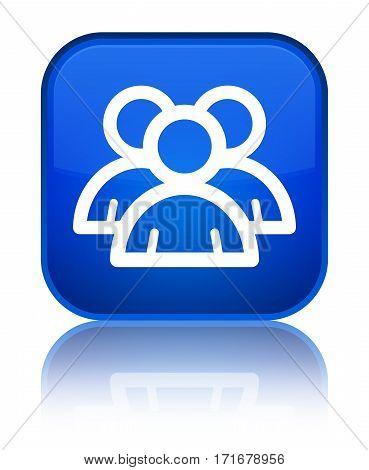 Group Icon Shiny Blue Square Button